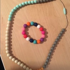 Other - Mama and little teething necklace and bracelet